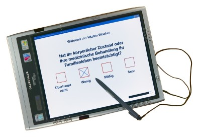 Foto: FSC ST5020 Pen-Computer mit AnyQuest for Windows und EORTC QLQ-C30